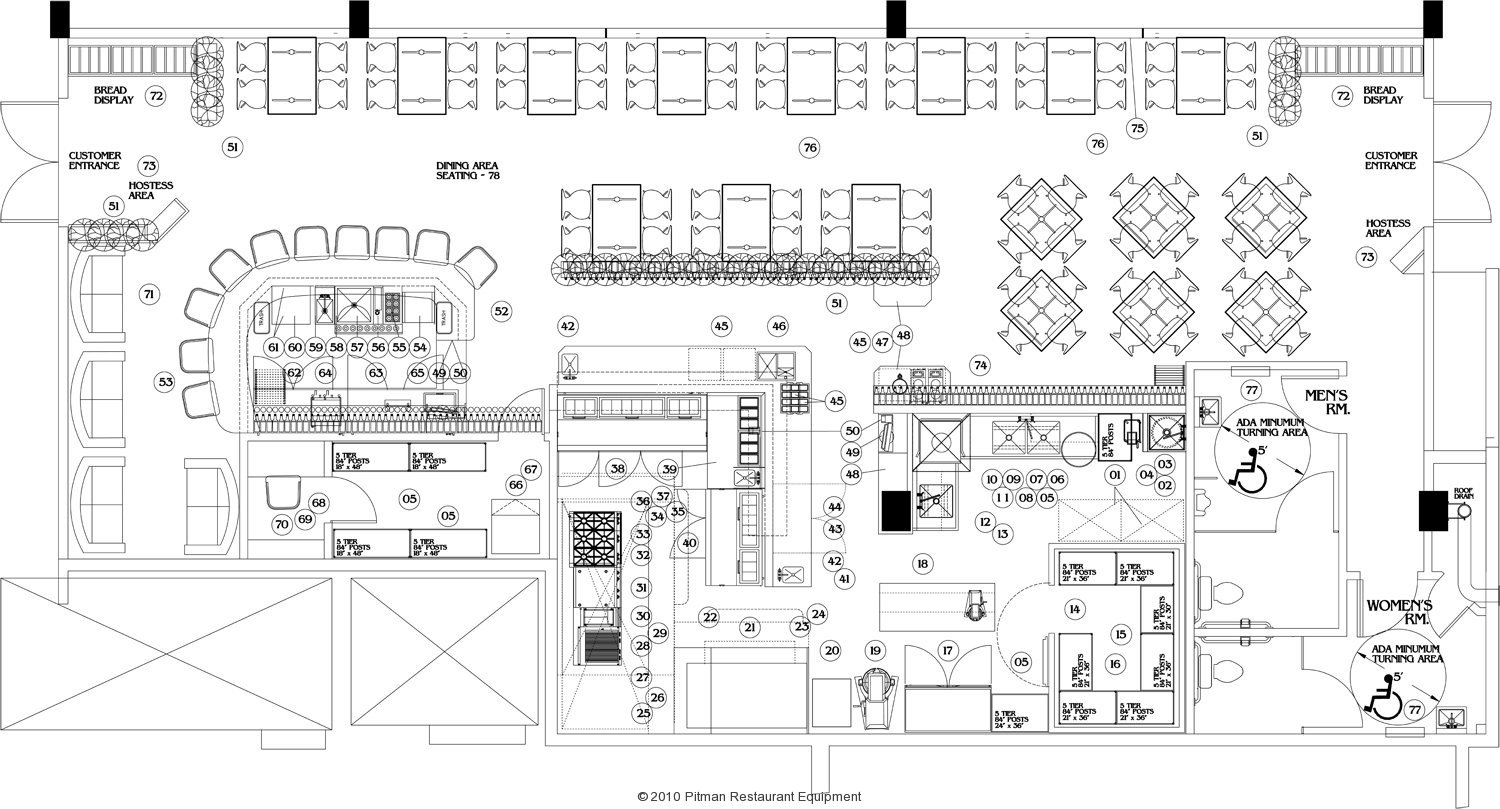 Design Services on Coffee Shop Layout Floor Plan